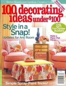 100 decorating ideas under 100 summer 2008