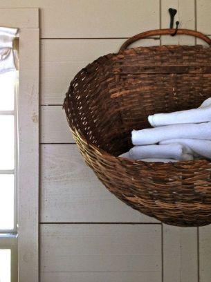 hanging linen basket