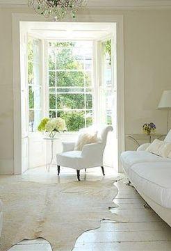 white rug
