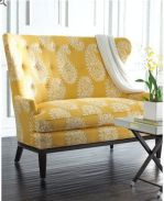 yellow loveseat