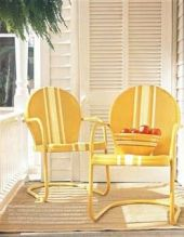 yellow porch chairs