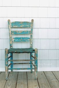 turquoise old chair