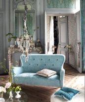 turquoise settee