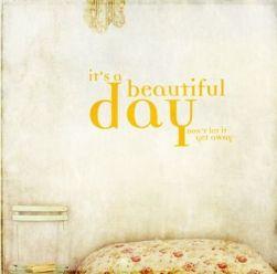 yellow beautiful day